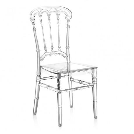 Barok Stili Şeffaf Düğün Organizasyon Sandalyesi - tfs4073