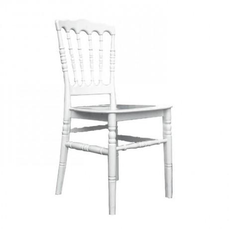 White Economic Plastic Napoleon Chair