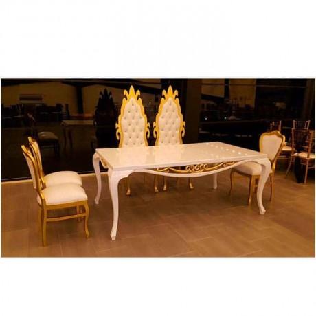 Altın Sarısı Boyalı Nikah Masa Sandalye Takımı - nkm36