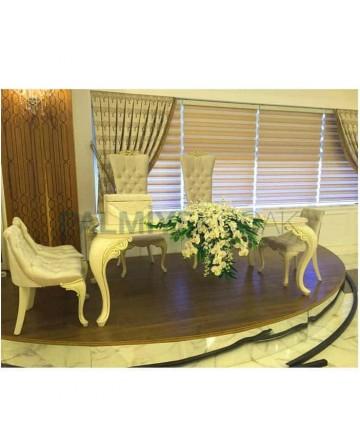 Wedding Hall Bride Groom Lukens Table Chair Set