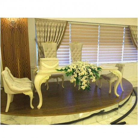 Wedding Hall Bride Groom Lukens Table Chair Set - nkm27