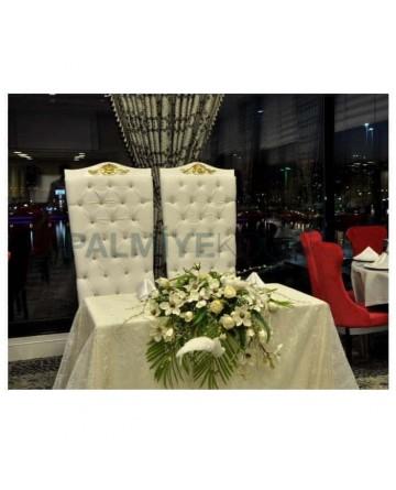 Düğün Salonu Gelin Damat ve Sandalyesi