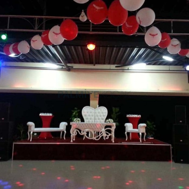 Wedding Hall Organization Bride Groom Chair Table Set