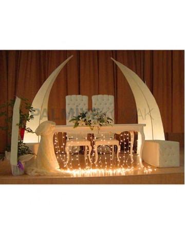 Bride Groom Wedding Table Chair Set