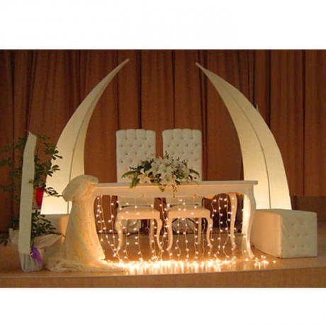 Bride Groom Wedding Table Chair Set - nkm04