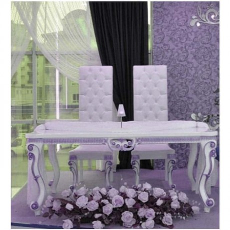 Lukens Ayak Oymalı Masalı Gelin Damat Sandalye - nkm15