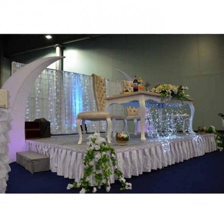 Nikah Masası Sandalyesi Takımı Nikah Şahidi Puflu - nkm24