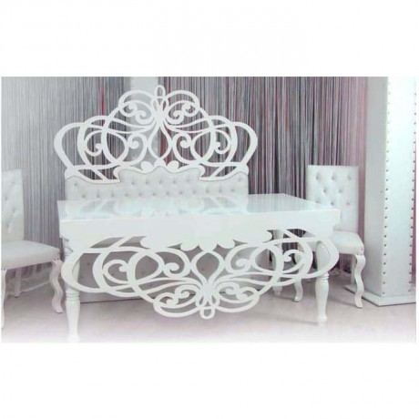 Bride Groom Table Chair Set with Carving Couch - nkm31