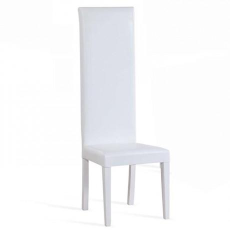 Beyaz Deri Gelin Damat Sandalyesi - nks02