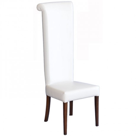 Beyaz Derili Gelin Damat Nikah Sandalyesi - nks08