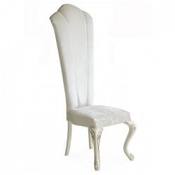 White Fabric Lukens Leg Sliced Wedding Chair