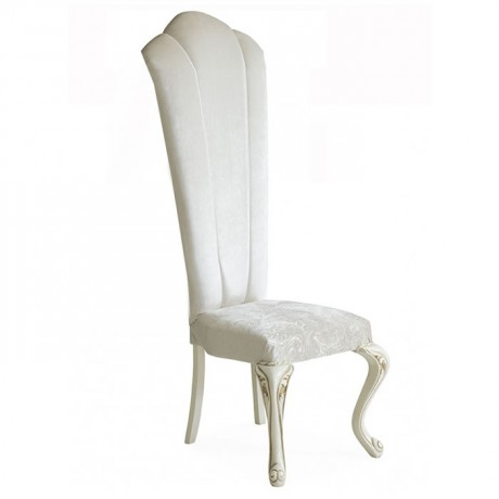 White Fabric Lukens Leg Sliced Wedding Chair
