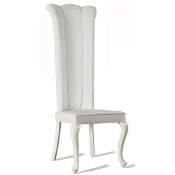 Lukens Wedding Chair with White Fabric