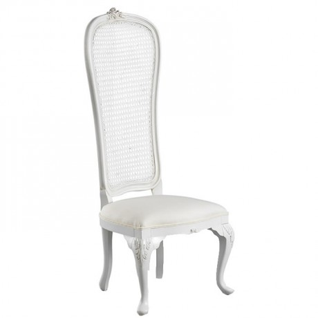White Lacquered Painted Classic Wedding Chair