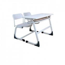 Maple Wood Verzalit Double Desk