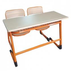 Double Single Board School Desk