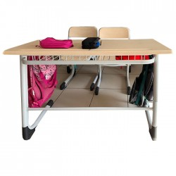 Grey Double School Desk