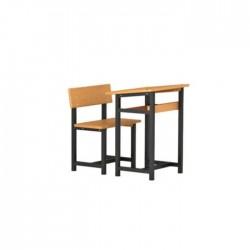 Metal Profile Classic Wooden Single Desk