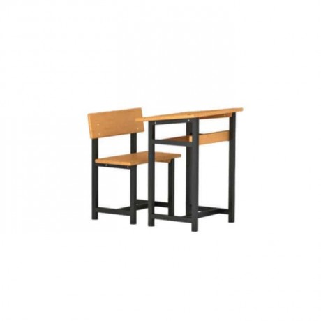 Metal Profile Classic Wooden Single Desk - pa2303