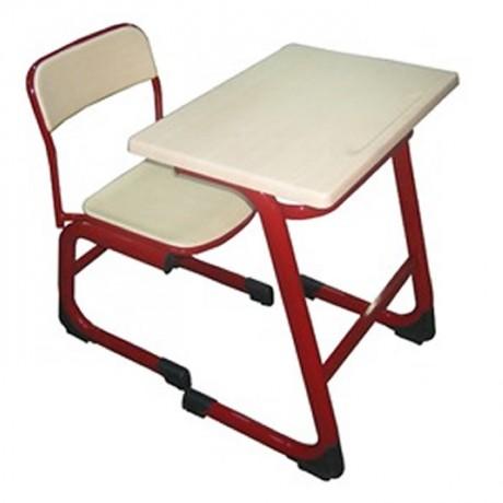 Tekli Kırmızı Werzalit Tablalı Okul Sırası - pw2271