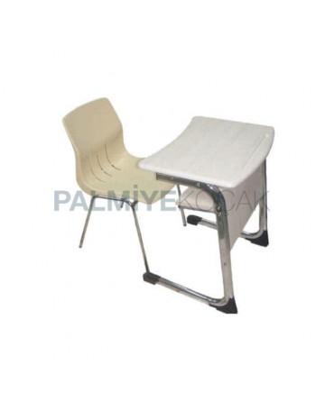 Tekli Verzalit Tablalı Plastik Sandalyeli Sıra