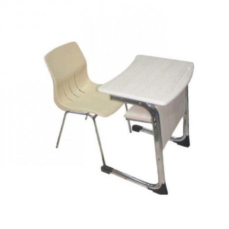 Tekli Verzalit Tablalı Plastik Sandalyeli Sıra - pw2255