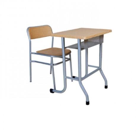 Single School Desk with Verzalit Chair - pw2259