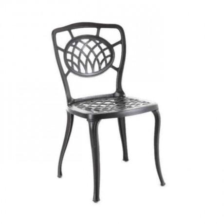 Otel Bahçesi Siyah Boyalı Döküm Sandalye - dks9009