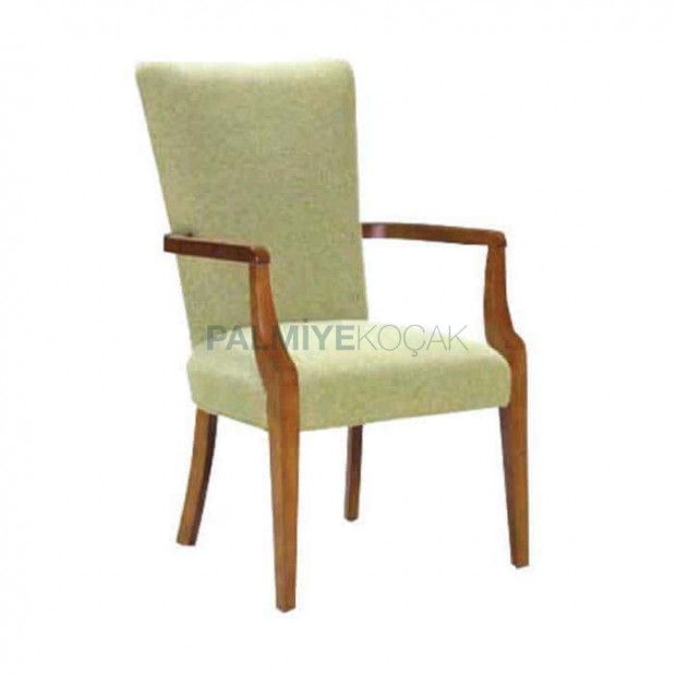 Hotel Lobby Fabric Upholstered Armchair