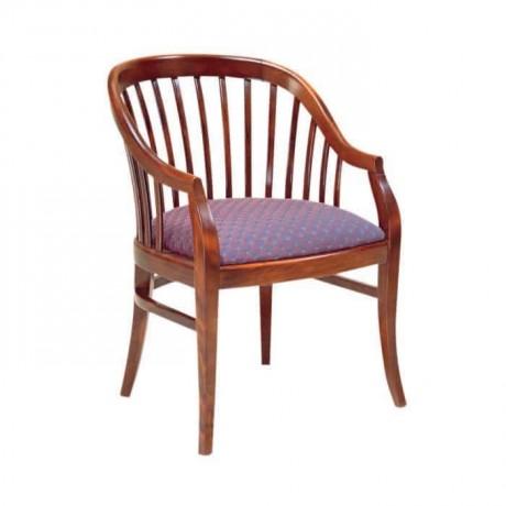 Otel Lobisi Kollu Cilalı Sandalye - ksak45
