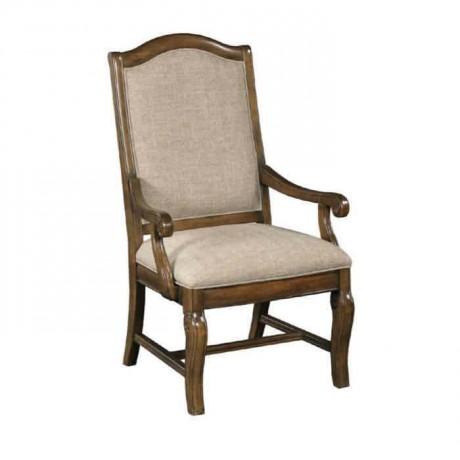 Otel Odası Klasik Kollu Ahşap Sandalye - ksak75