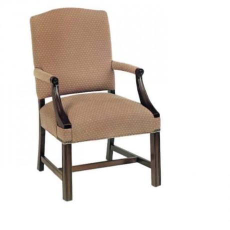Otel Odası Sandalyesi Bej Kumaş Döşemeli - ksak87