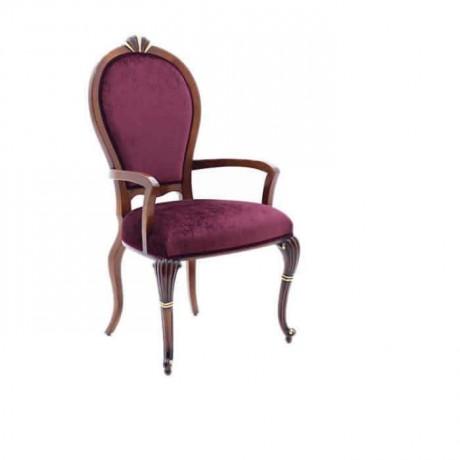 Oval Sırtlı Fusia Sandalye - ksak88