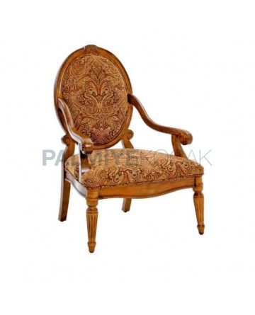 Oval Backrest Classic Armchair