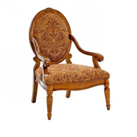 Oval Sırtlı Klasik Kollu Sandalye - ksak47