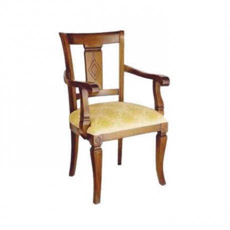 Classic Wooden Painted Wooden Armchair - ksak109