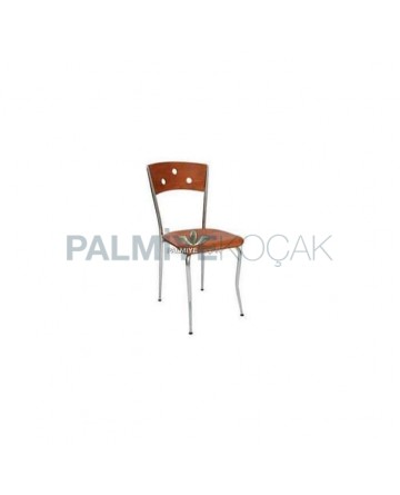 Papelli Walnut Painted Metal Chair