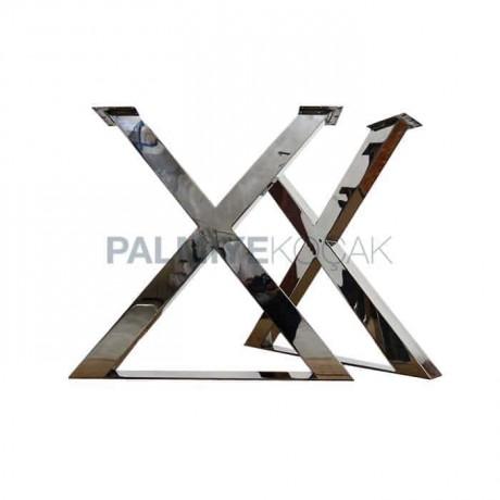 X Şekilli Krom Masa Ayağı - mtt40
