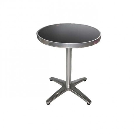 Round Table With Stainless Legs - amb07