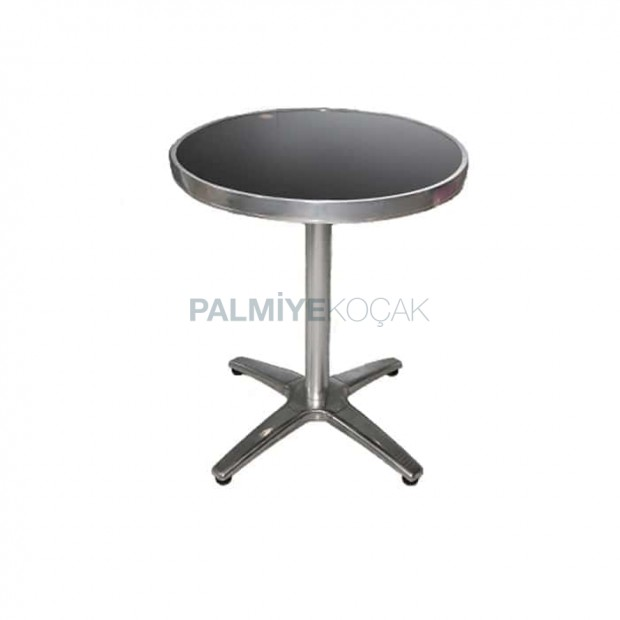 Round Table With Stainless Legs