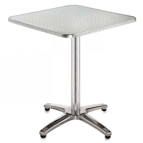 Square Stainless Cafe Table - amt01