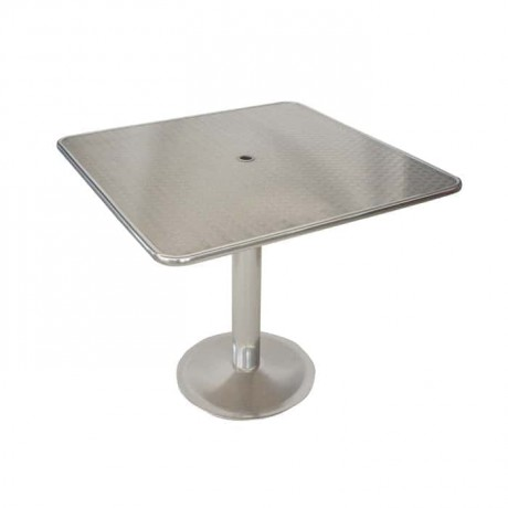 Square Umbrella Stainless Garden Table - amb09