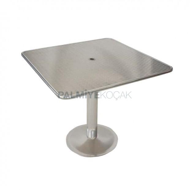Square Umbrella Stainless Garden Table