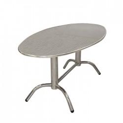 Oval Stainless Restaurant Garden Table