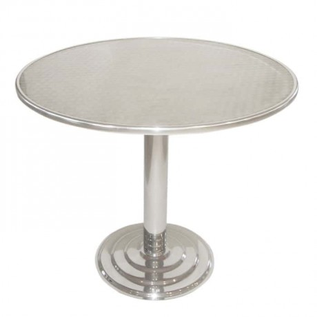 Stainless Round Outdoor Table - amb04