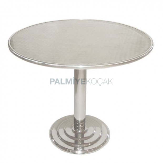 Stainless Round Outdoor Table