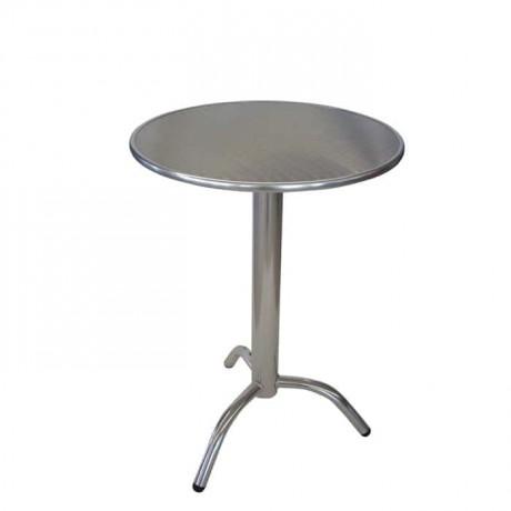 Yuvarlak Paslanmaz Cafe Masası - amb05
