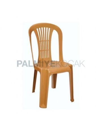 Açık Kahve Organizasyon Plastik Sandalyesi