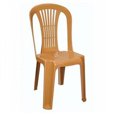 Açık Kahve Organizasyon Plastik Sandalyesi - plsk2023