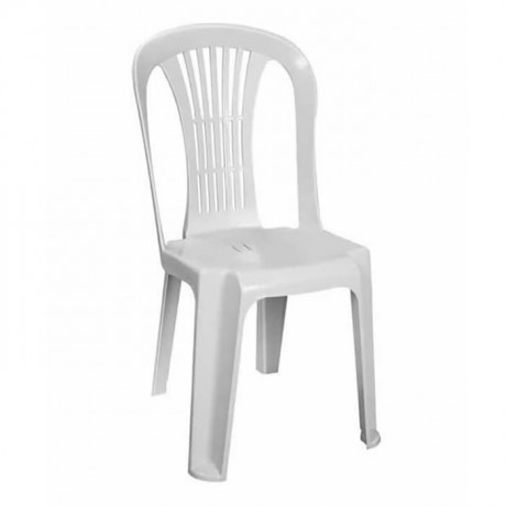 White Plastic Wedding Hall Chair - plsk2021